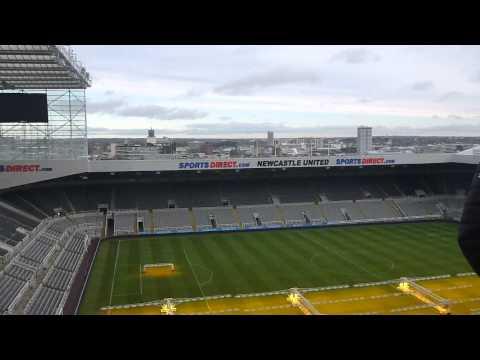 Stadium Tour of St James Park Newcastle United   England   Part 4   December 2014