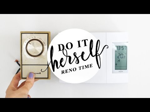 How To Replace an Analog Thermostat with Digital (Baseboard Electric Heaters)   DO IT HERSELF