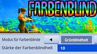 FARBBLINDENMODUS CHALLENGE! | (Stärke 10) | Fortnite Battle Royale