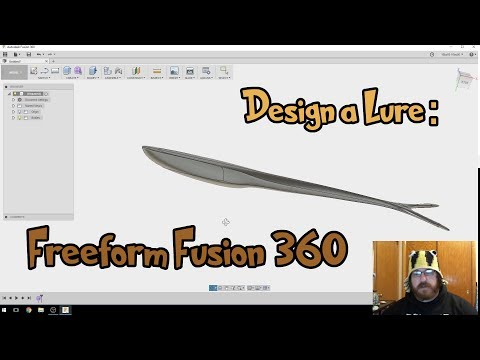 Design a lure: Swimbait with Fusion 360 Free Form
