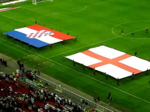 England vs Croatia.. The Flags