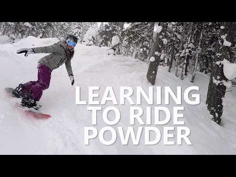 Download My Girlfriend Learning to Snowboard in Powder Pics