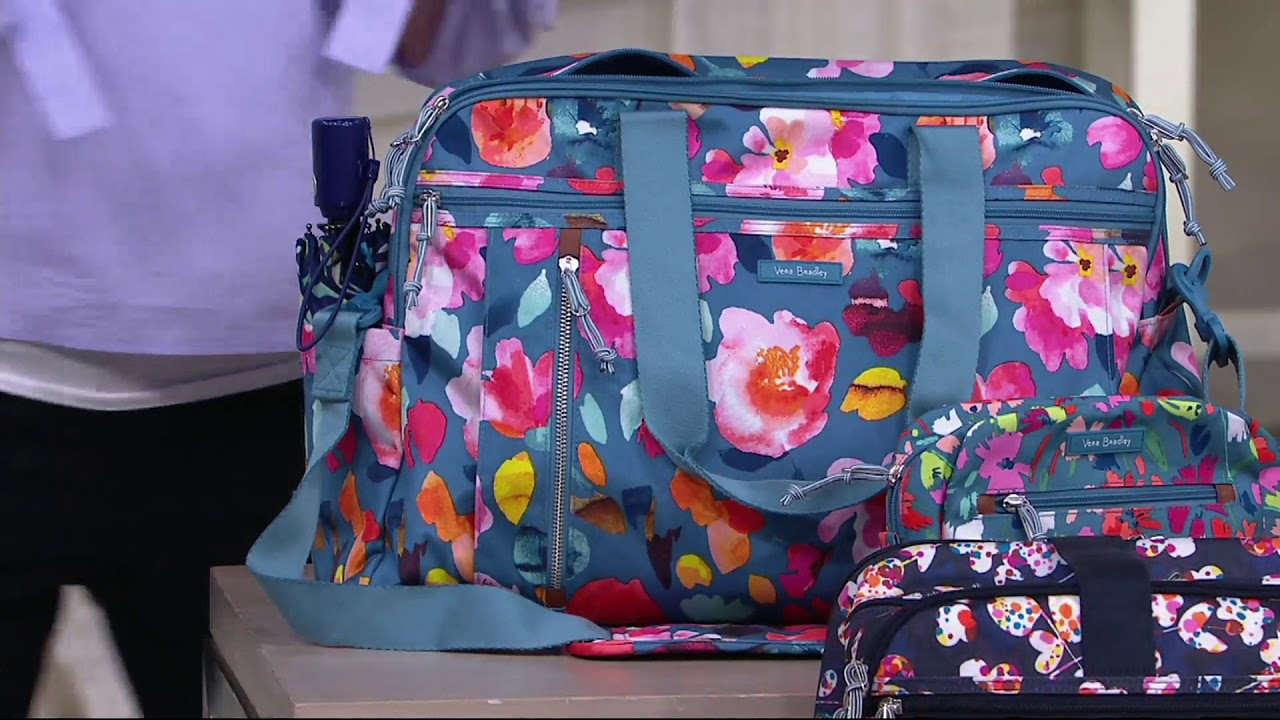 7b761cdcf Vera Bradley Lighten Up Weekender Travel Bag w/ Cosmetic Case on QVC ...