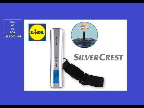 SilverCrest Luggage Scale UNBOXING (Lidl max. 50kg / 110lb, Weight: 0.05kg / 0.1lb)