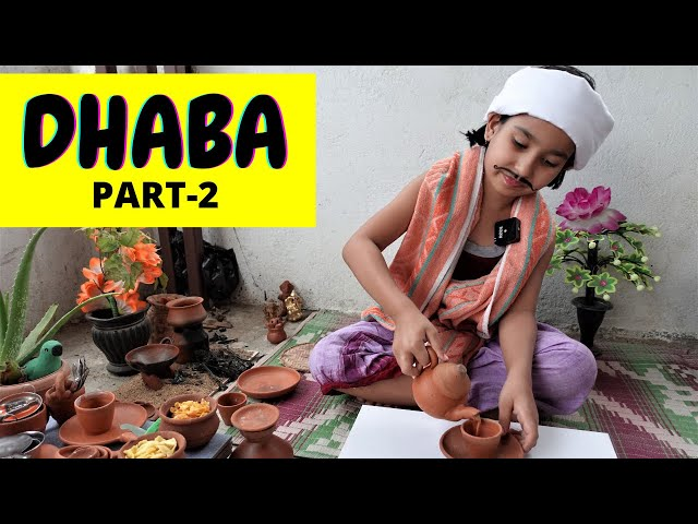 Cooking game in Hindi Part-27 / Dhaba PART-2 / Kitchen set play  | #LearnWithPari  #Aadyansh