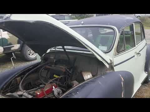 Morris Minor first start after sitting for 20 years