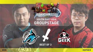 Adroit vs Geek Fam Game 2 (BO3) | ESL One Birmingham Online 2020 SEA Groupstage