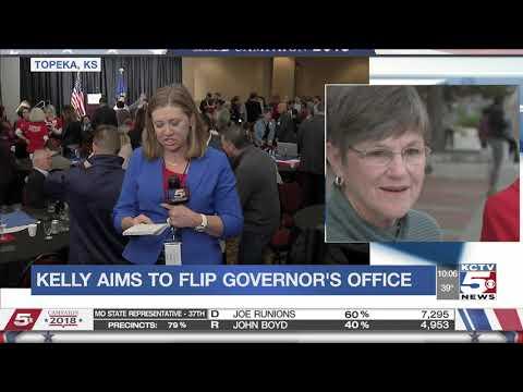 Democrat Kelly wins Kansas governor's race