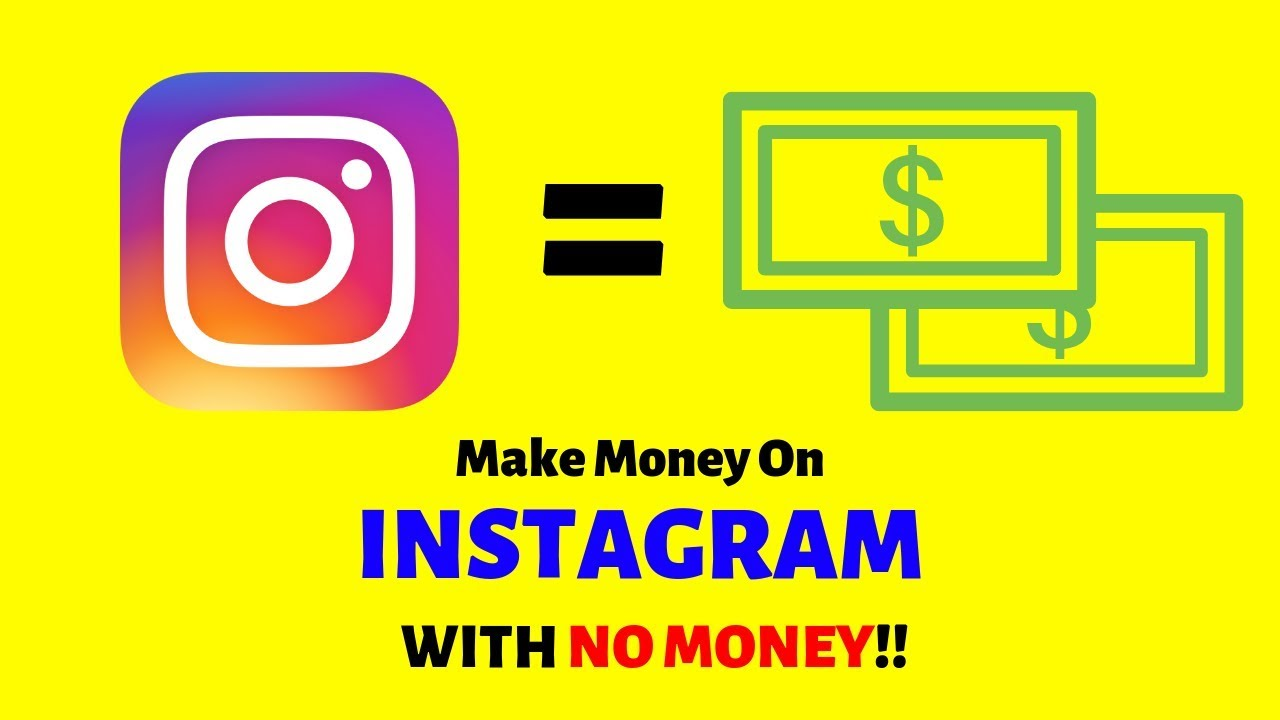 how to make money on instagram 2018