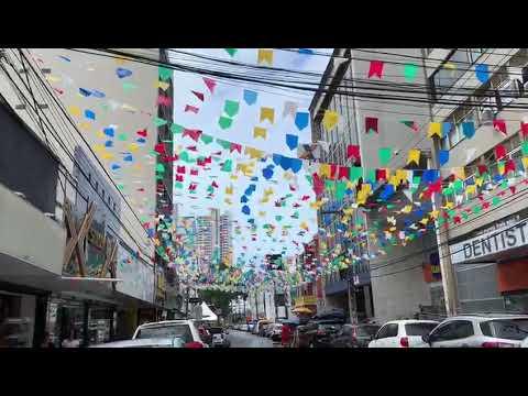 Em Natal, bairro ganha decoração de São João e terá trio de Sanfoneiro nas ruas