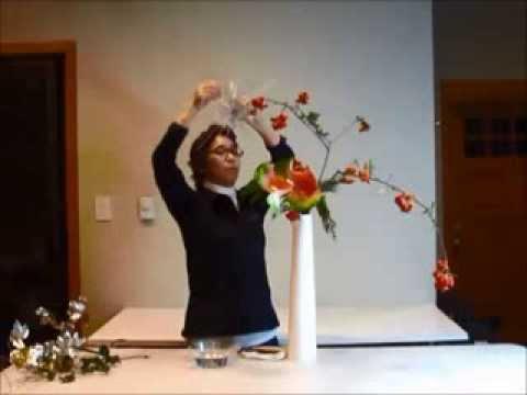 Sogetsu Ikebana Demonstration Video Dec 2013 Christmas Season Theme