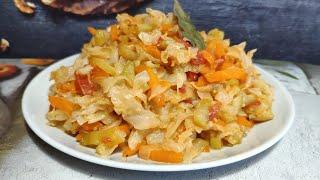 Вкуснейшее овощное рагу с капустой и кабачками ! Простой постный, вегетарианский, ПП рецепт!