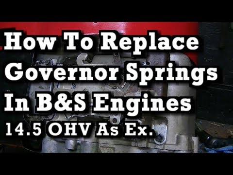 How To Replace Install Governor Springs On Most B S