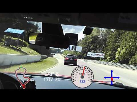 Mazdaspeed3 - JRP Day at Mosport GP Session 4 with Overlay