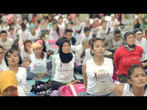 Gold's Gym at MNC Channels Jakarta Yoga Festival 2015