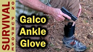 Galco Ankle Glove Ankle Holster for Glock 43- Concealed Carry Everyday