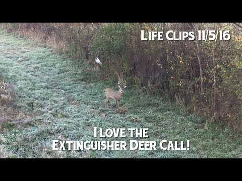 Extinguisher Deer Call Works! Here's proof!