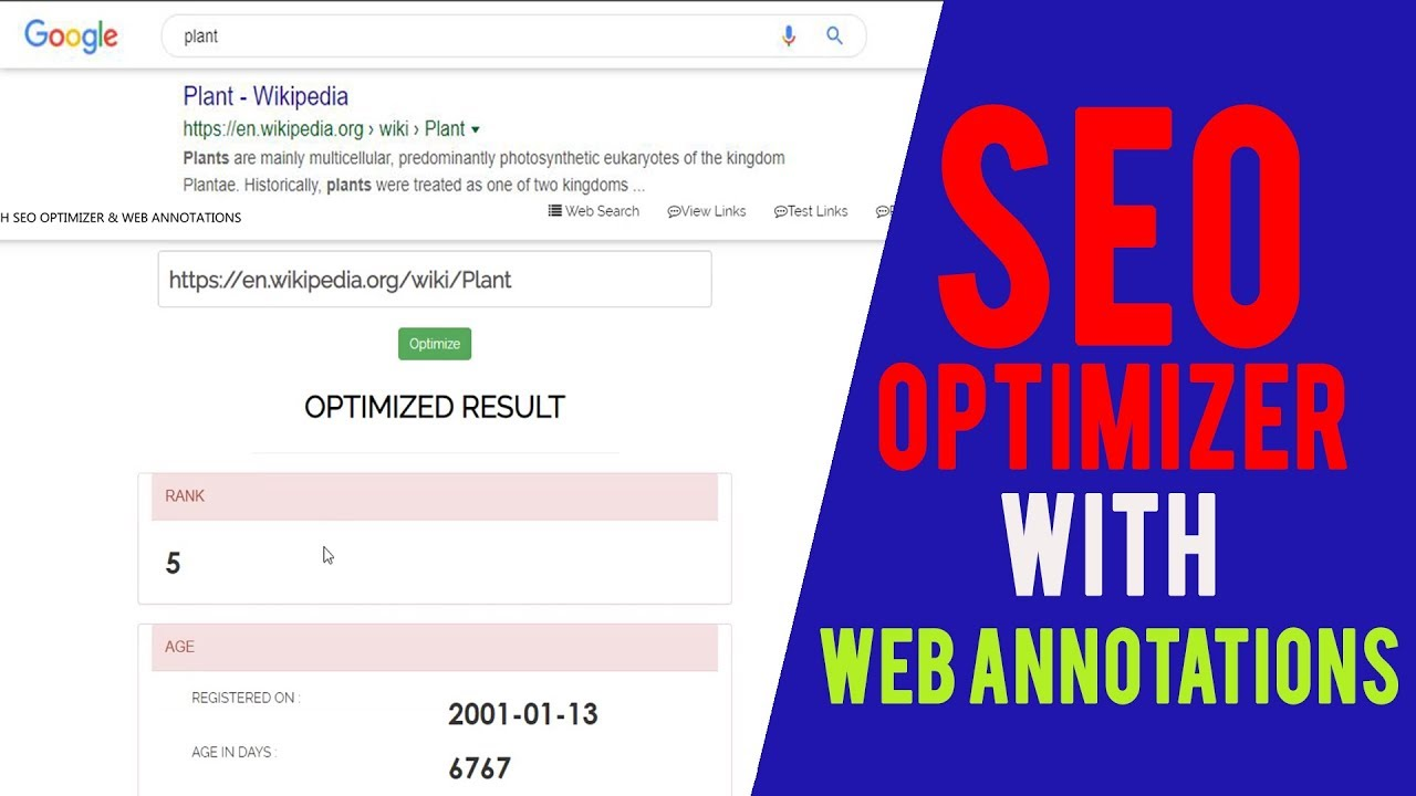 Web Based SEO Optimizer with Web Annotations c# asp net Project