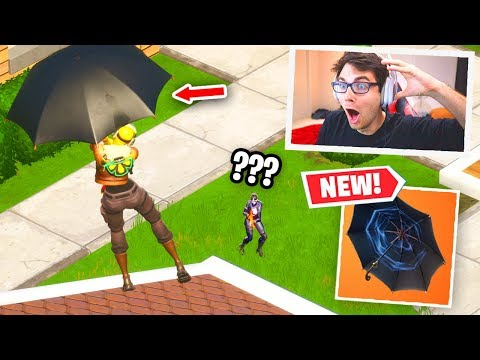 I ONLY USED THE *NEW* UMBRELLA TO WIN IN FORTNITE... (New Update Season 2)