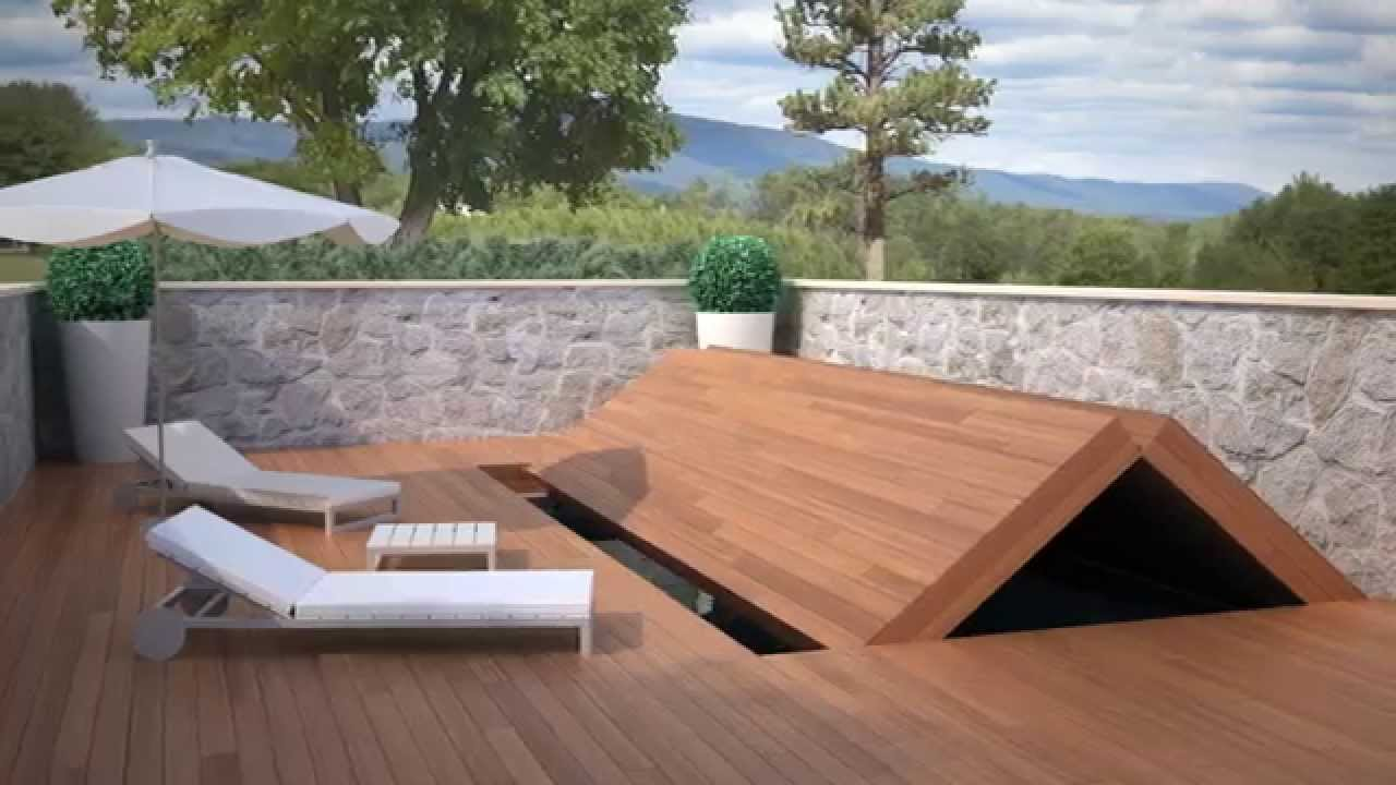 Apertura secional youtube for Cubierta piscina transitable