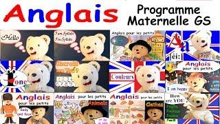 Cours d'anglais pour les maternelles GS : Programme grande section