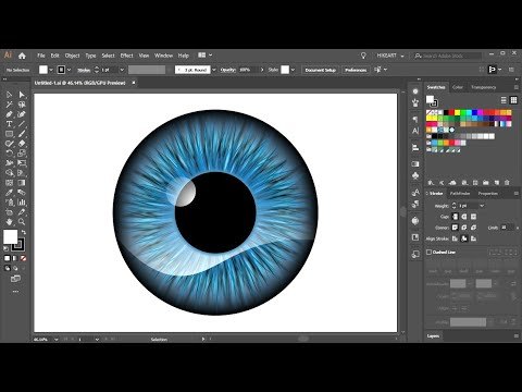 How to Create a Vector Eye in Adobe Illustrator thumbnail