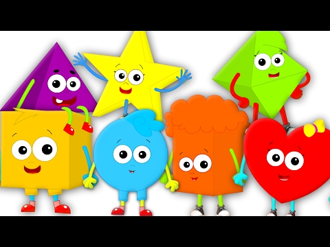 The Shapes song | Nursery Rhymes | Learn Shapes | Kids songs