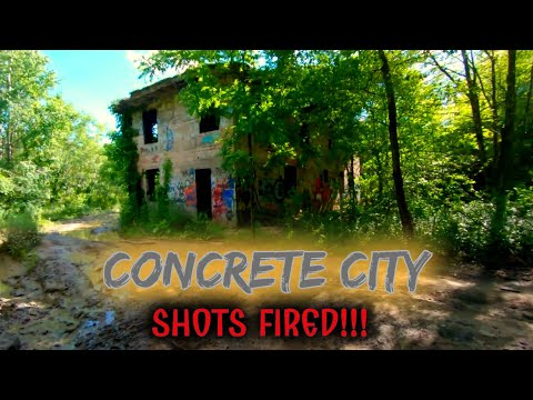 (SHOTS FIRED!!! ) Exploring Abandoned Concrete City!