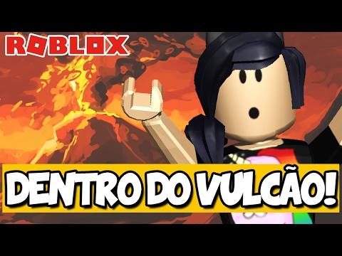 FUI PARAR DENTRO DO VULCÃO! - Roblox (Escape the Volcano Obby!)