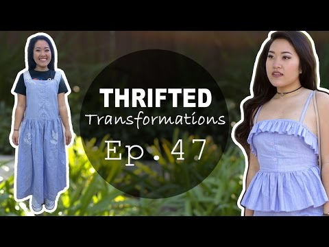 Matching Peplum Set | Thrifted Transformations Ep. 47