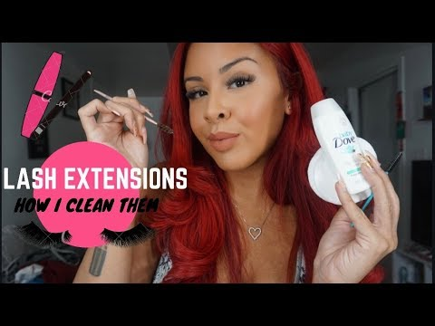 HOW I CLEAN MY LASH EXTENSIONS | Stephanie Lopez