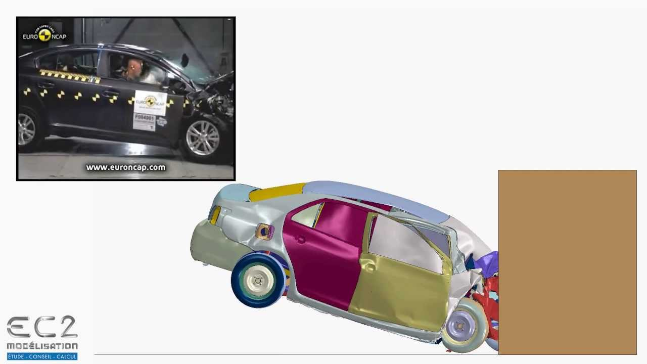 comparaison essai simulation d 39 un crash test d 39 une toyota yaris abaqus youtube. Black Bedroom Furniture Sets. Home Design Ideas