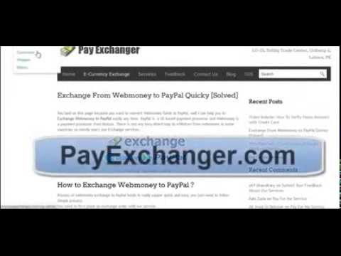 How To Exchange WebMoney To PayPal Easilyipad