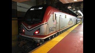 Amtrak Keystone Corridor Train 647 Departs NY Penn Station Track 3 w/ ACS-64 Veterans Unit 642