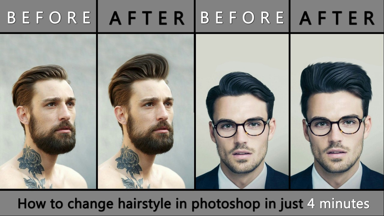 change hair style of my photo how to change hairstyle in photoshop easy amp fast new 2017 6754