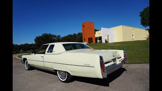 1976 Cadillac Coupe Deville Classic 70s American Luxury Car Samspace81