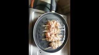 Quick Afghan Chicken / Murg Malai Kabab Recipe Made On A Grill Pan