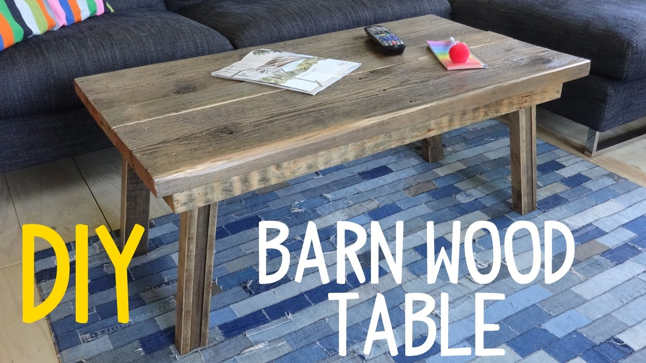Build a Simple Barn Wood Table! (Rustic-Mod) - YouTube