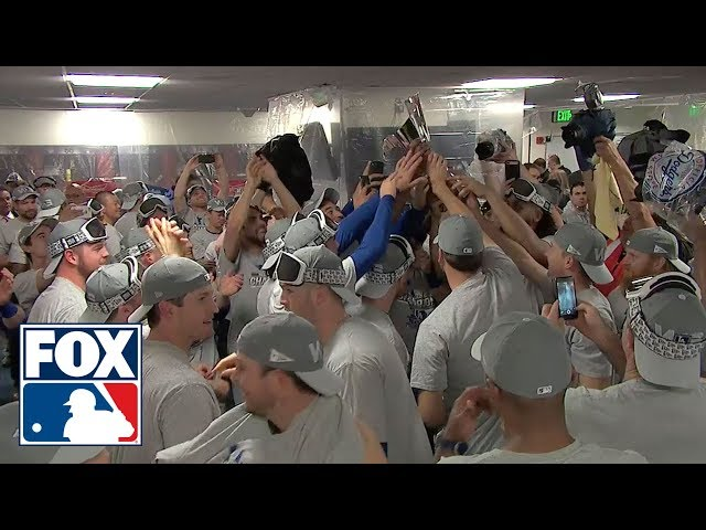 Watch the Los Angeles Dodgers celebrate their 2nd straight National League Pennant | FOX MLB