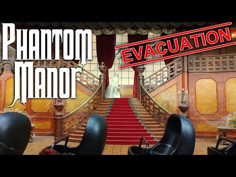[4K] Phantom Manor Evacuation - Disneyland Paris