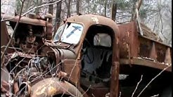 abandoned old cars and trucks