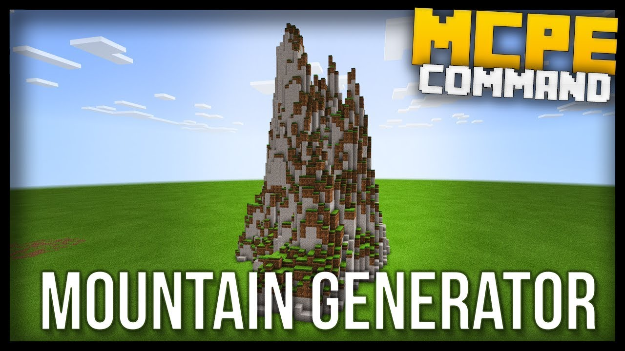 Fully Working MOUNTAIN GENERATOR in Minecraft BEDROCK edition