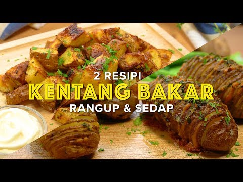 2 Resipi Kentang Bakar 2 Roasted Potatoes Recipes Youtube