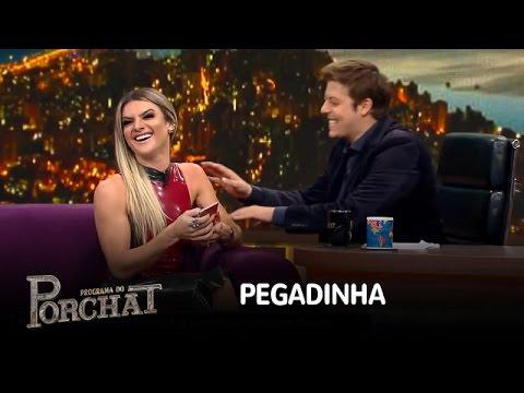 Mirella Santos Cai Em Pegadinha De Fábio Porchat E Ceará