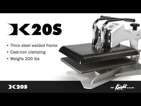 Geo Knight DK20S Heat Press for Sublimation - Operation & Features -