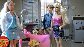 Собака Барби Таффи родила двух щенков, Мультик с куклами Барби для девочек Играем в игры с Барби(Собака Барби Таффи родила двух щенков., 2016-03-13T05:00:00.000Z)