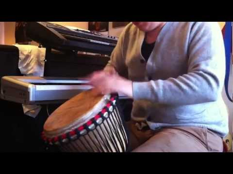 Djembe drum demonstration (for sale on eBay)