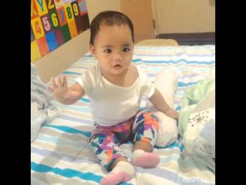 9 month old baby dancing