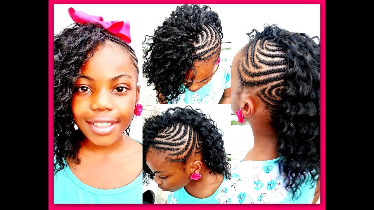 Crochet Braids On One Side : Braids On One Side Curls On The Other Crochet braids: side mohawk ...