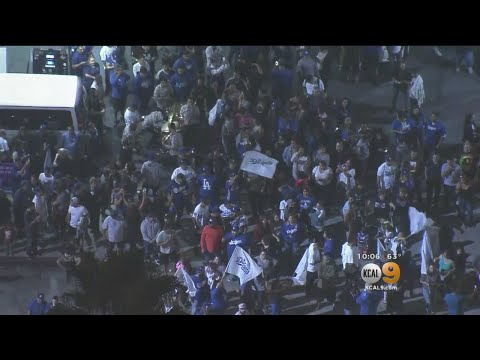 Diehard Dodger Fans Take To The Streets To Celebrate NLDS Win